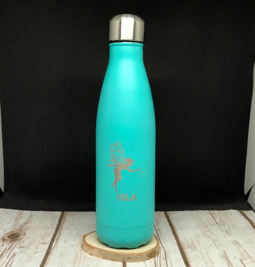 Personalised Insulated Reusable Water 500ml Bottle - School Bottle - Fairy