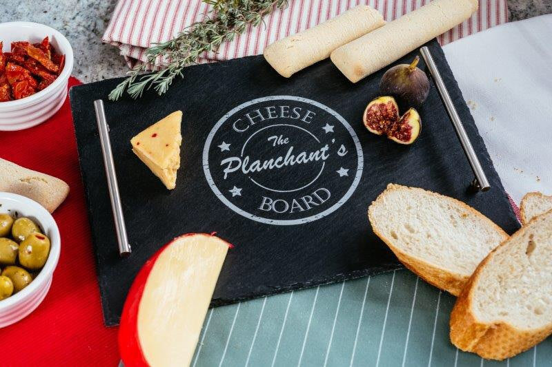 Personalised split monogram initial slate cheese board with handles/Any Occasion Gift/Personalised Slate/Housewarming Gift
