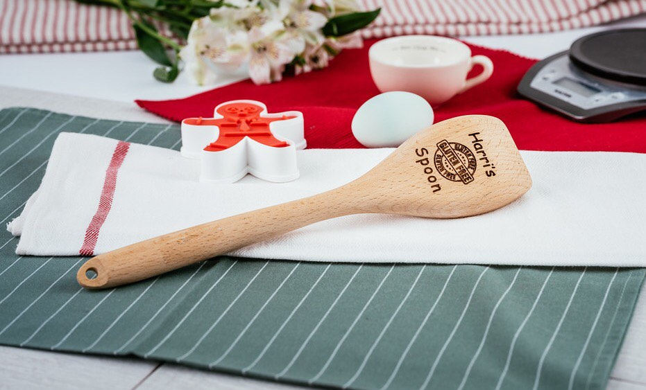 Personalised wooden spoon - Gluten Free Design