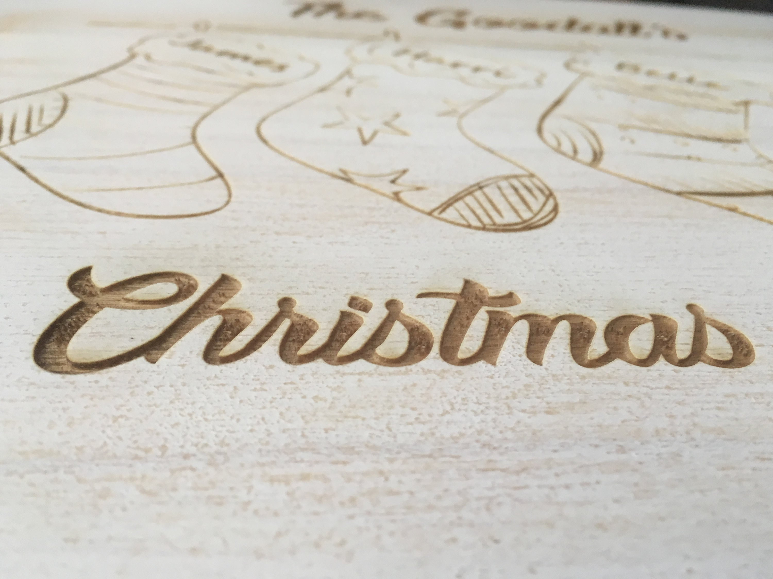Personalised Christmas Eve Box Family Size  Stockings/Rustic White Box/Memory Box/Personalised Xmas Box/Personalised Family Box/Best Selling