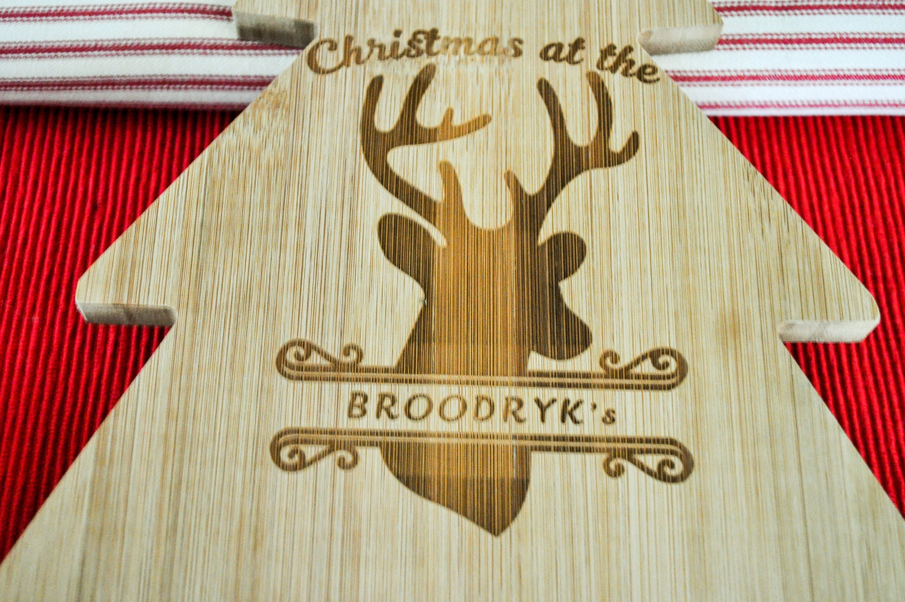 Personalised Christmas Cheese board/Christmas Tree Cheese board