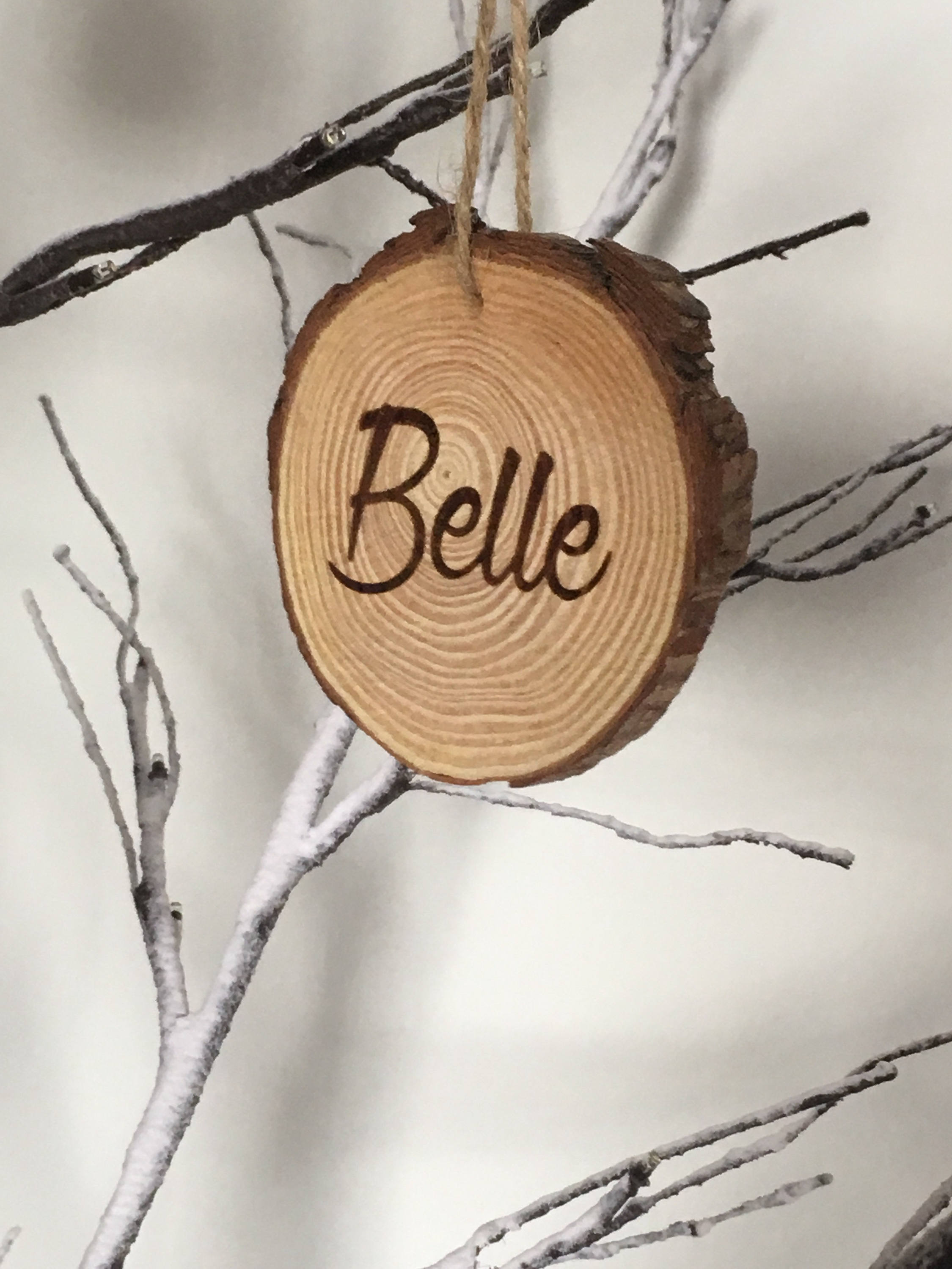 Personalied Tree Log Slice Christmas Decoration/Rustic Christmas Decoration/Personalised Keepsake/Best Selling Decoration