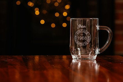 Personalised Pint Glass - Vintage - Birthday Gift