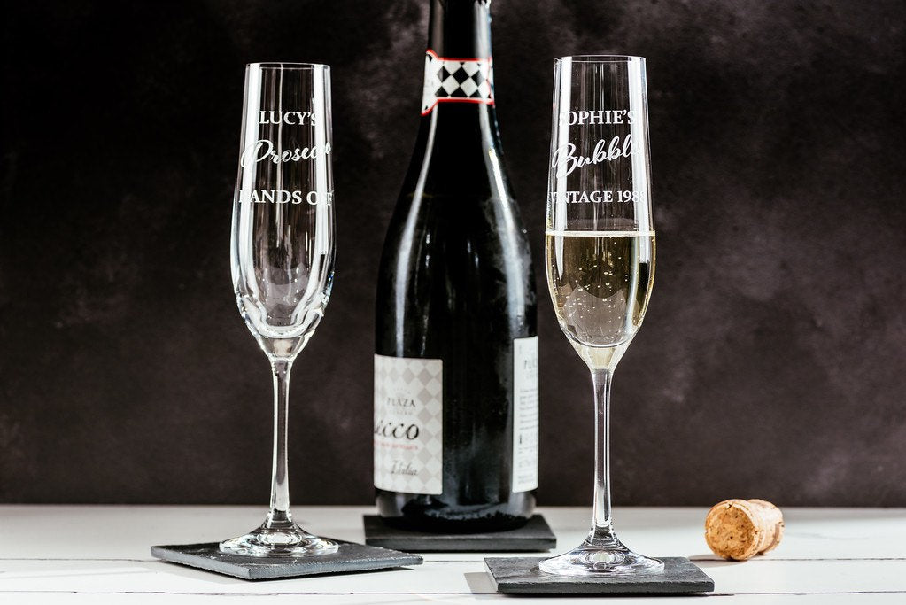 Personalised engraved champagne flute - Sophie's Bubbles Vintage 1978 - Great birthday present - Glass