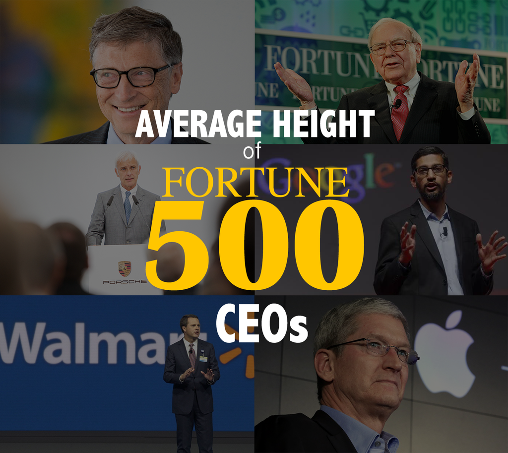 Average Height of Fortune 500 CEOS: 6'2""