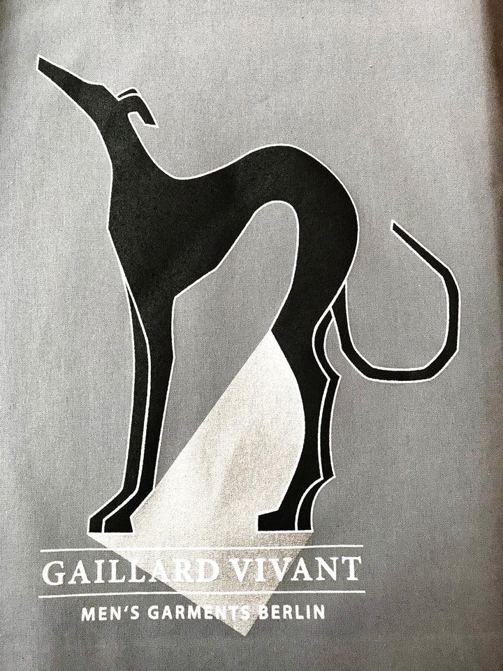 GAILLARD VIVANT'S DOG COTTON BAG