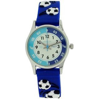 Reflex Time Teacher Kids Boys Blue 3D Silicone Football Strap Watch REFK0007