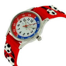 Reflex Time Teacher Kids Boys Red 3D Silicone Football Strap Watch REFK0008