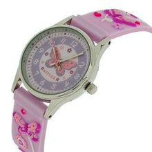 Reflex Time Teacher Kids Girls Lilac 3D Silicone Butterfly Strap Watch REFK0012
