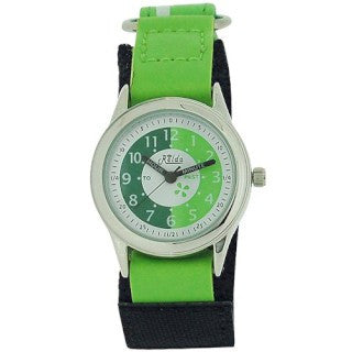 Relda Time Teacher Green & Black Velcro Strap Boys Girls Childrens Watch REL10