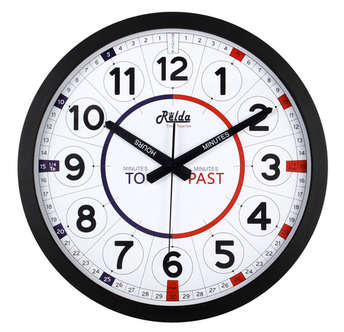 Relda Kid Quick Learn Time Teacher Clock Tell Time Wall Clock REL77
