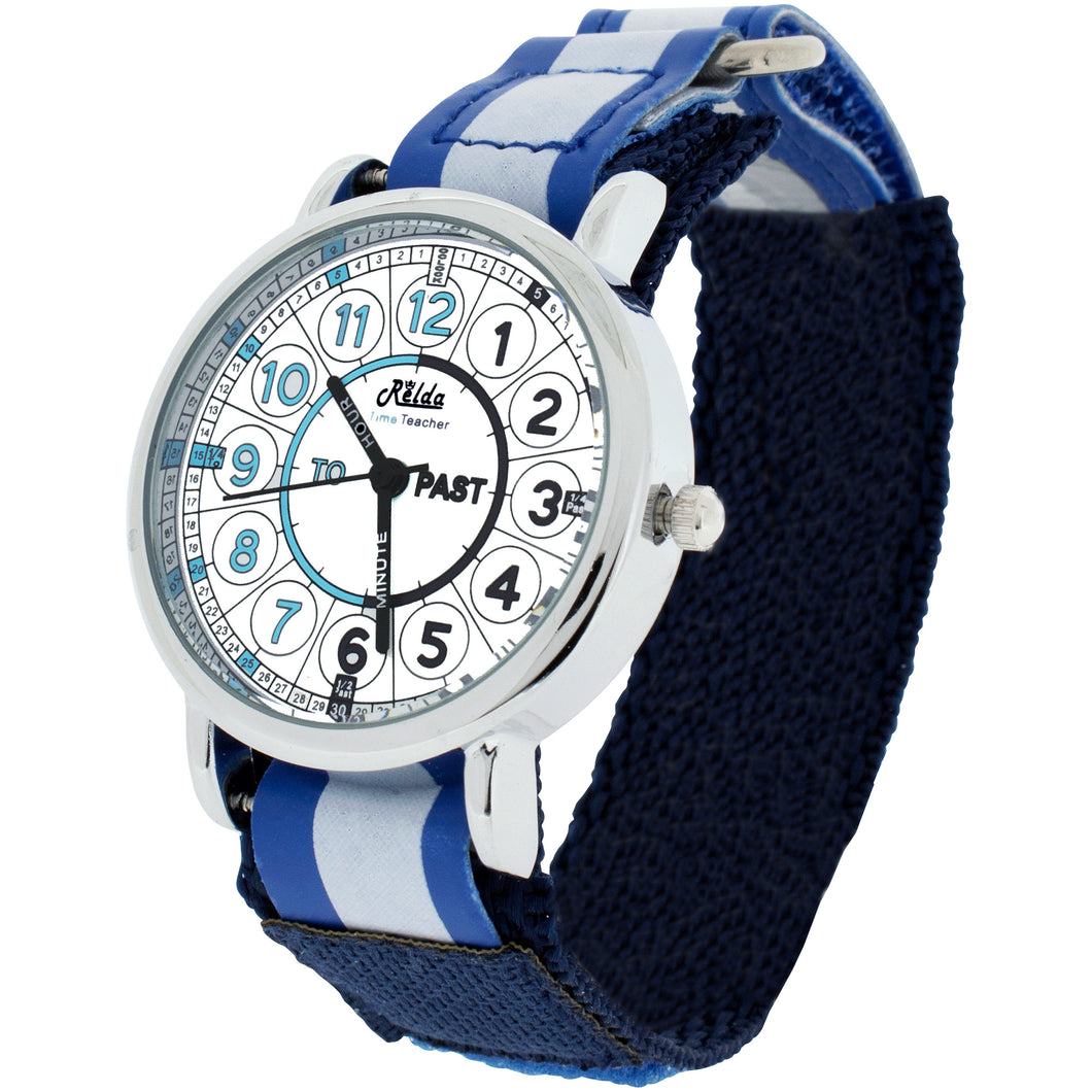 Time Teacher Teaching Telling Quick Learn Children's Watch    Blue + Award