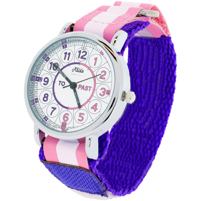Time Teacher Teaching Telling Quick Learn Children's Watch   Pink + Award