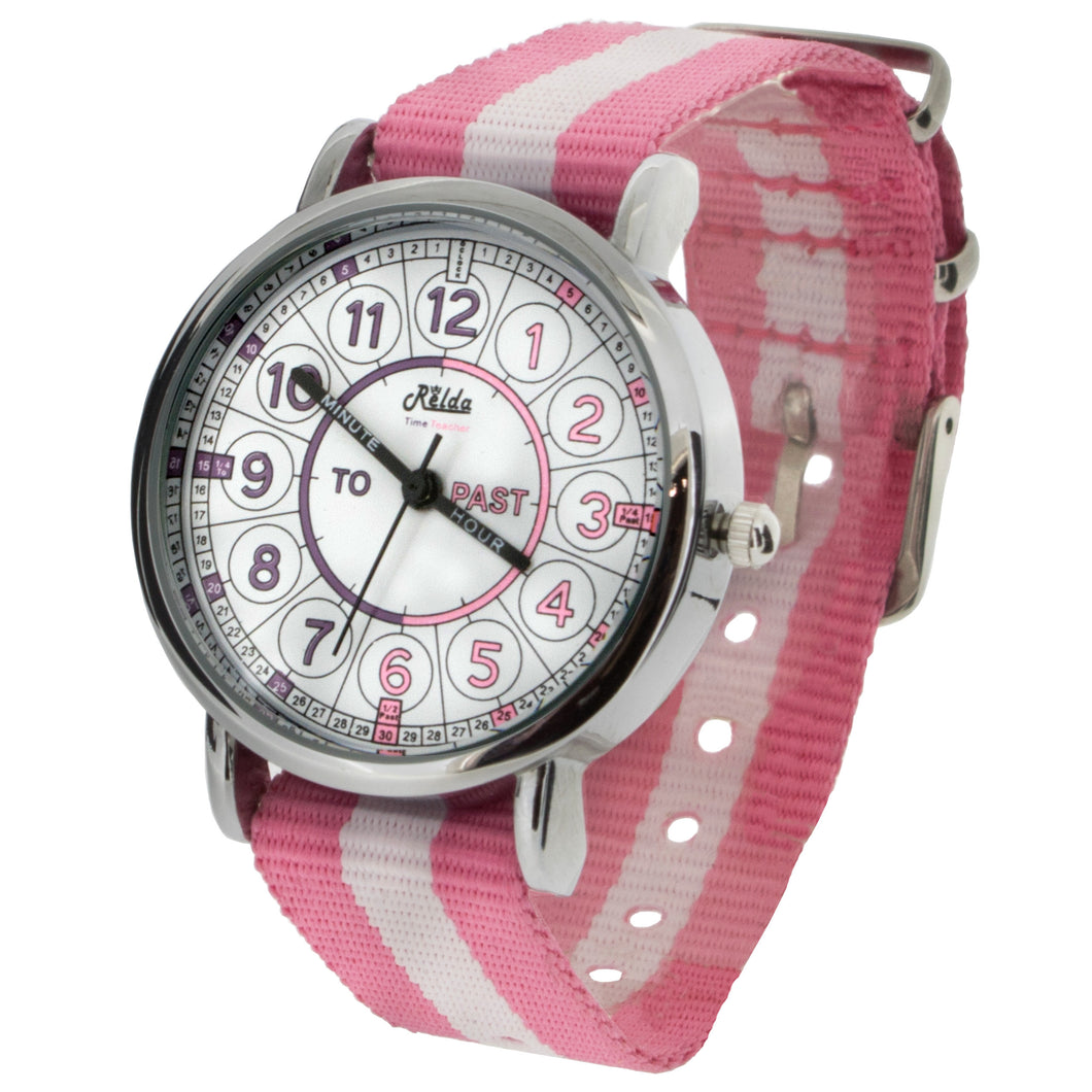 Relda Time Teacher Teaching Telling Quick Learn Pink Girl Kids  Watch REL111