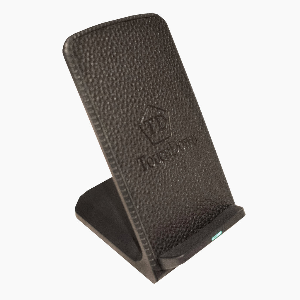 Mounted Leather Charger - Business Edition - Black - TouchDown Charging