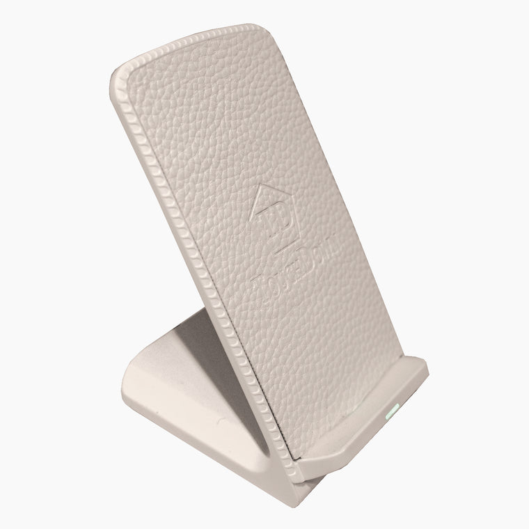 Mounted Leather Charger - Business Edition - White-Mounted Charger-TouchDown Charging-White-TouchDown Charging