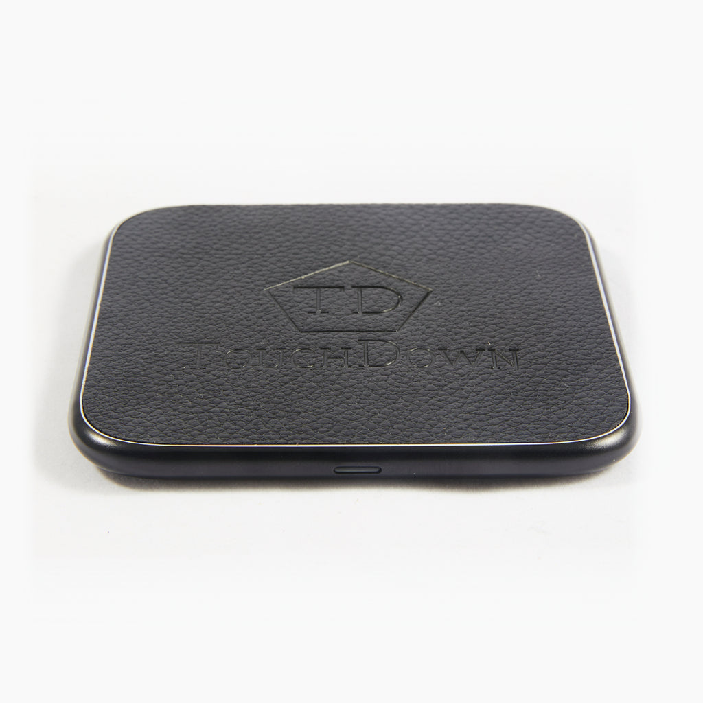 Leather Charging Pad - Business Edition - Silver-Charging Pad-TouchDown Charging-Black-TouchDown Charging