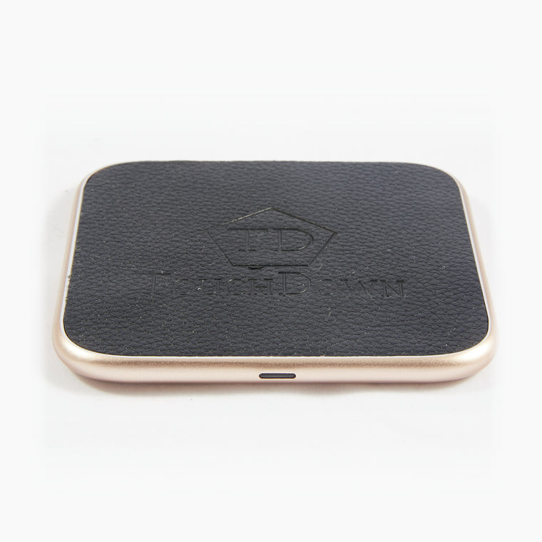 Leather Charging Pad - Business Edition - Rose Gold-Charging Pad-TouchDown Charging-Gold-TouchDown Charging