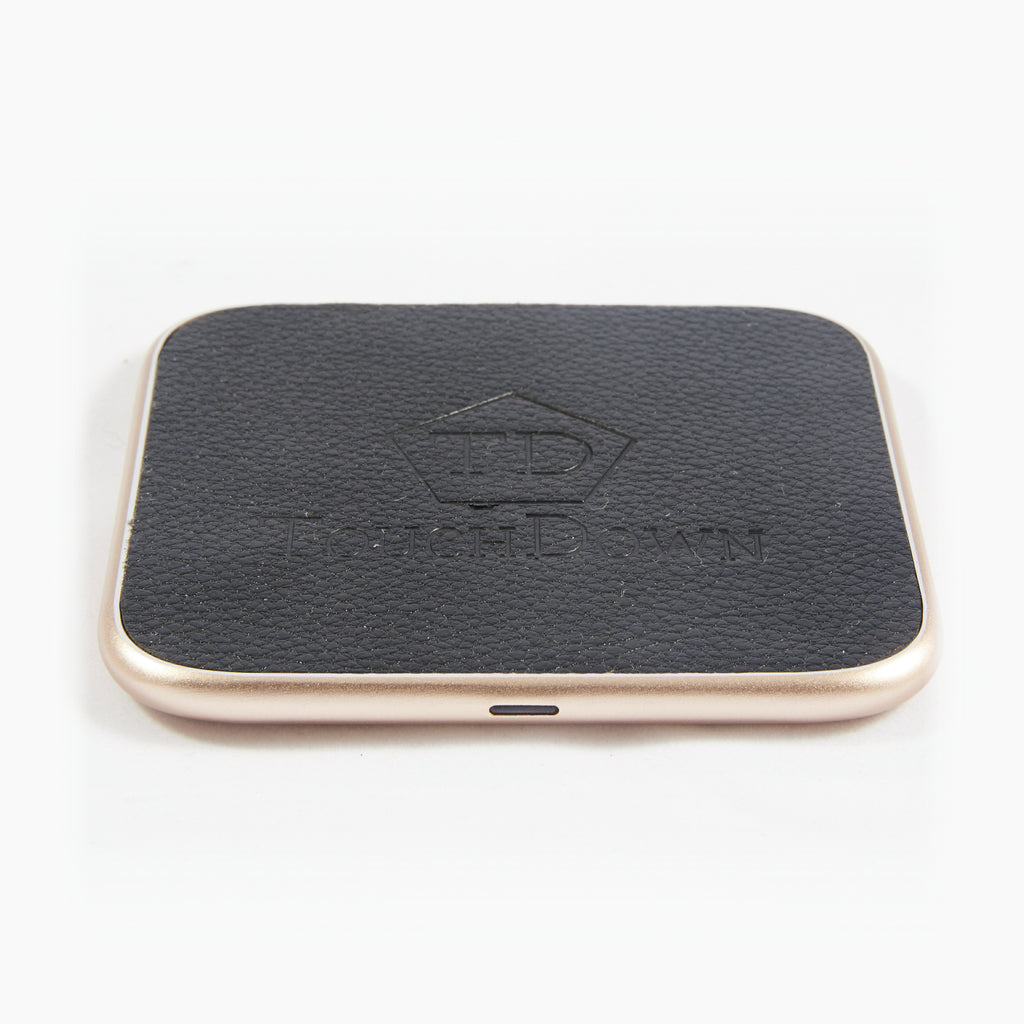Leather Charging Pad - Business Edition - Silver-Charging Pad-TouchDown Charging-Gold-TouchDown Charging