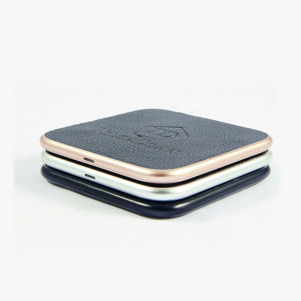 Leather Charging Pad - Business Edition - Silver-Charging Pad-TouchDown Charging-TouchDown Charging