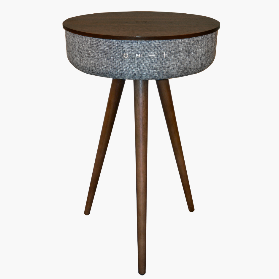 TouchDown Audio - Designer Table (Walnut) - TouchDown Charging