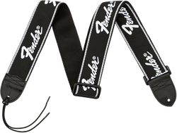 Fender® Running Logo Strap, Black