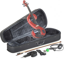 Stagg Evn 4/4 Red Violin With Headphones