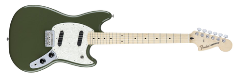 Fender Mustang Olive Green Maple Fingerboard