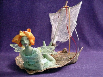 Fairy in her Leaf Boat