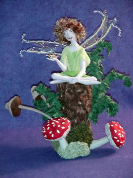 Fairy on Tree Stump