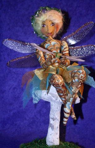 Mushroom Fairy with Dragonfly