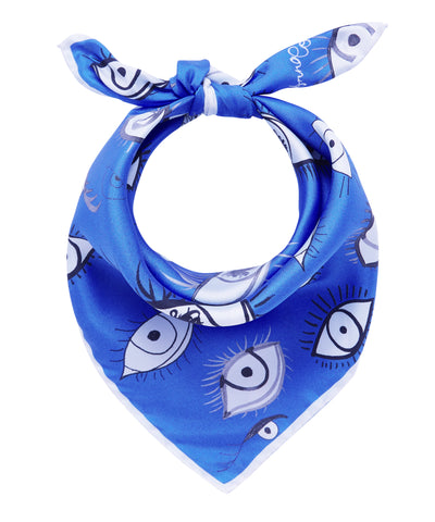 Eyes Scarf - Blue