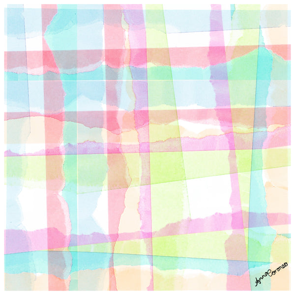Collage Plaid Scarf - Breeze