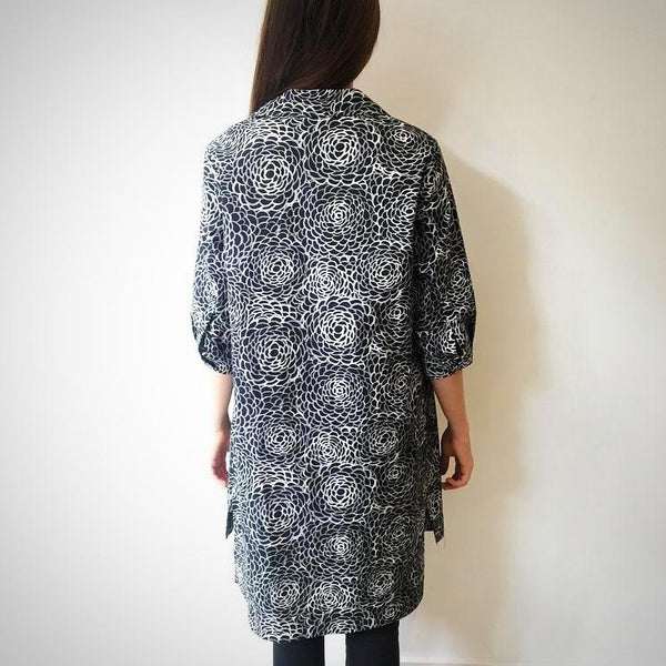 Camellia Tunic - Black and White