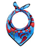 Chillies Scarf - Blue