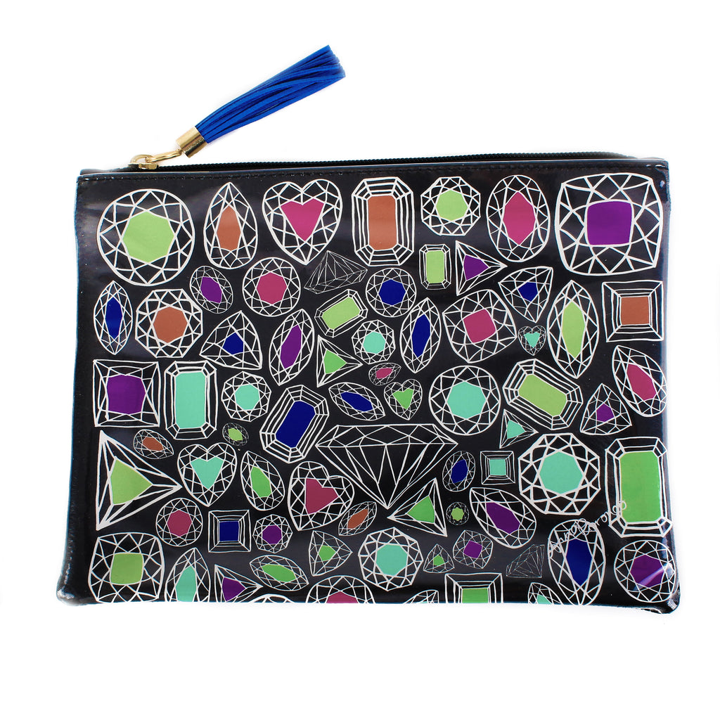 Diamonds Travel Clutch
