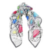 Diamonds Scarf - Multi White