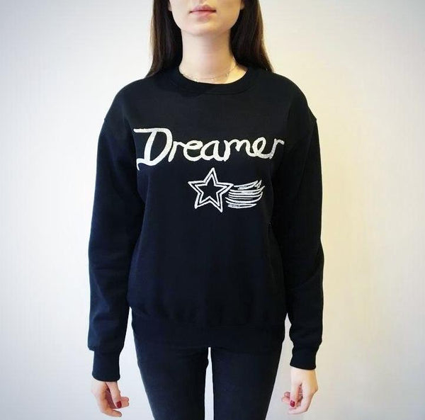 Dreamer Sweater - Black with Silver Glitter