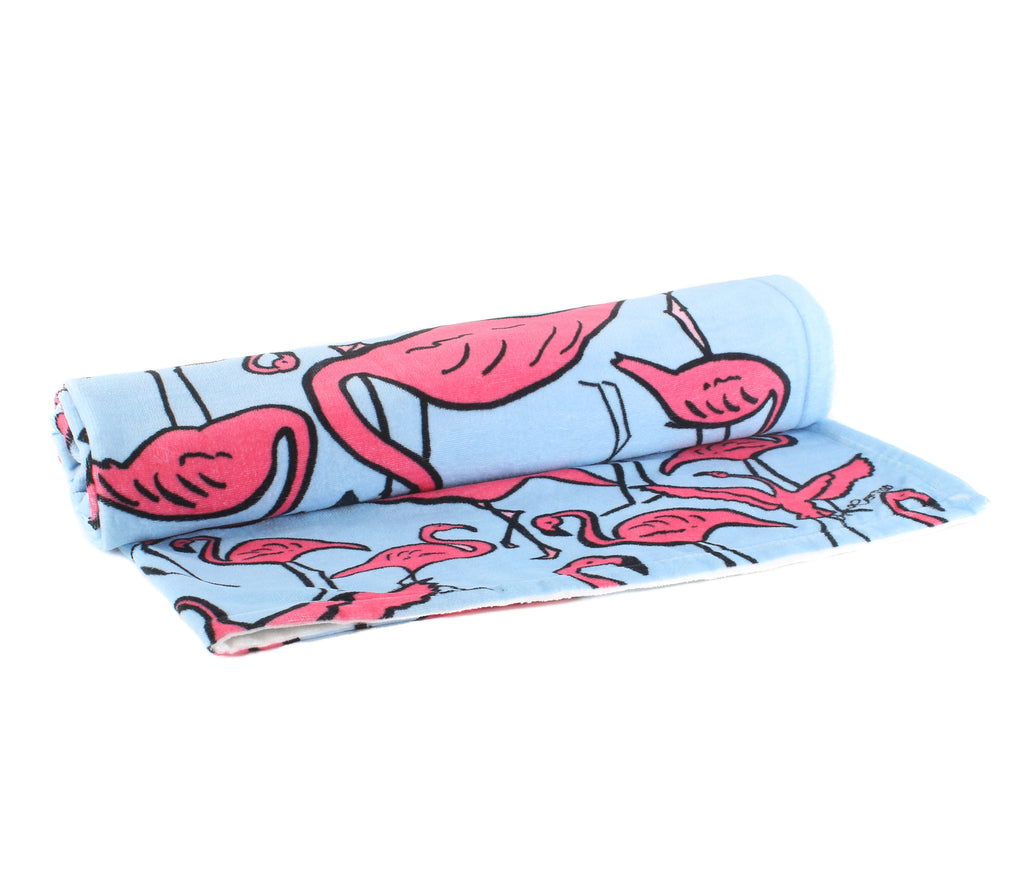 Flamingos Beach Towel