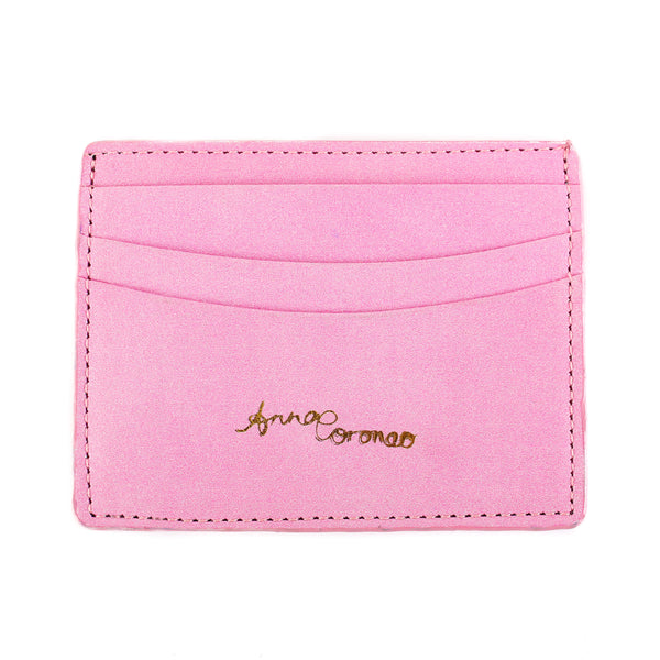 Flamingos Leather Cardholder
