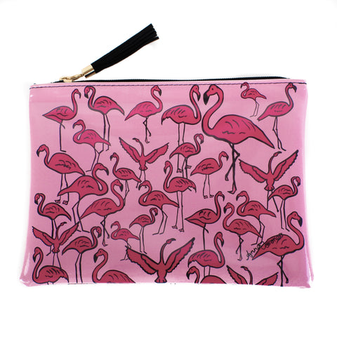 Flamingos Beach Pochette