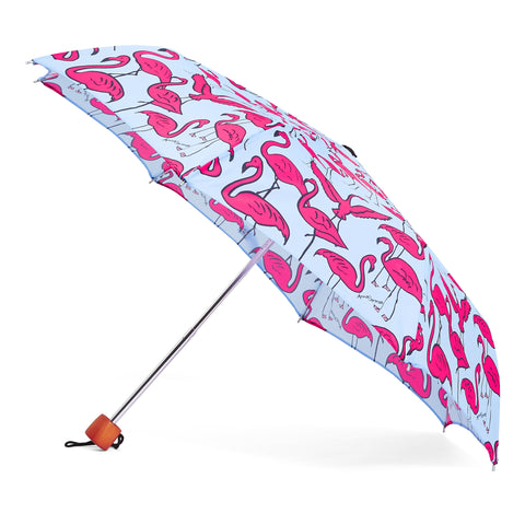 Flamingos Umbrella - Blue
