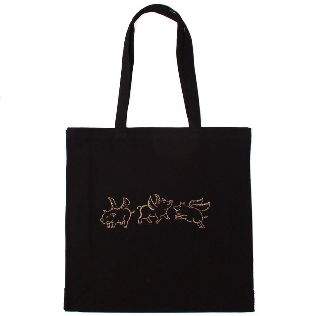 Flying Pigs Canvas Tote