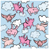 Flying Pigs Scarf - Blue