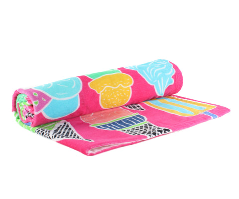 Ice Creams Beach Towel