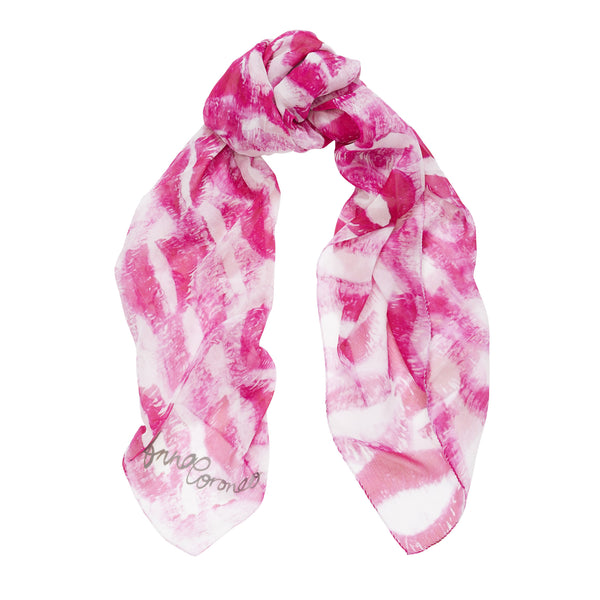 Kisses Scarf - Pink