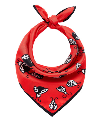 Ladybirds Scarf - Red