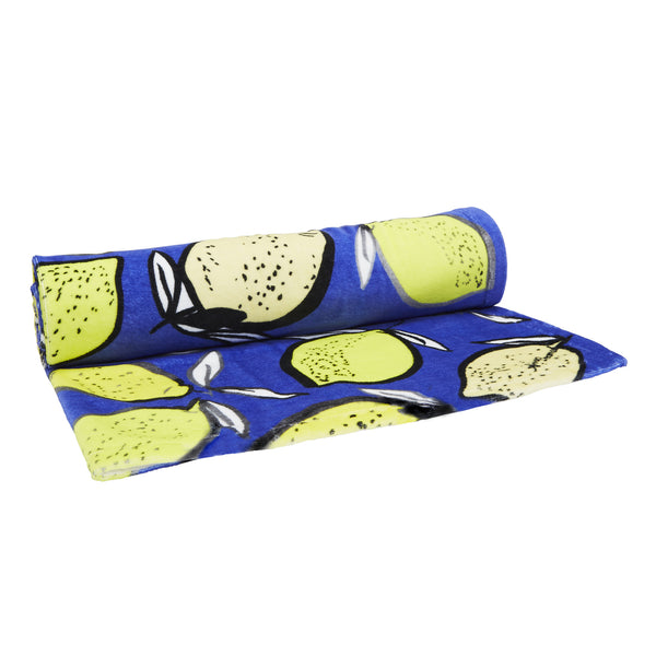 Lemons Beach Towel - Blue