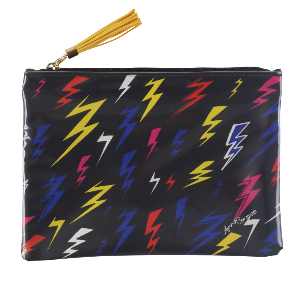 Lightning Bolts Travel Clutch