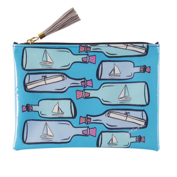 Message in a Bottle Travel Clutch